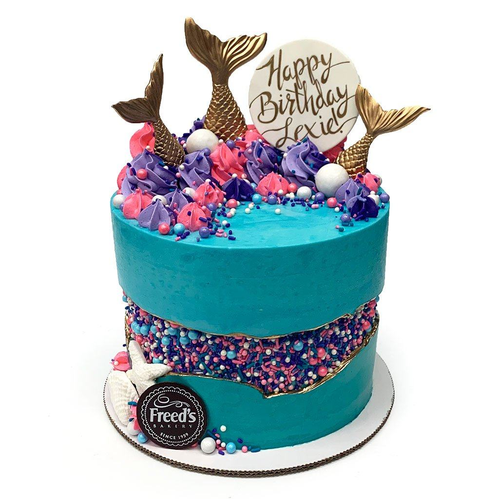 Mermaid Cove Cake Theme Cake Freed's Bakery