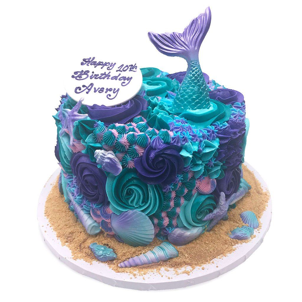 Mermaid Reef Theme Cake Freeds Bakery