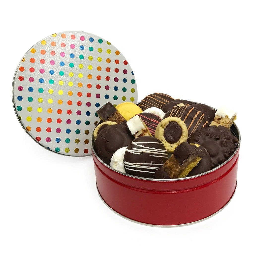 Dots Cookie Tin Cookie Tin Freed's Bakery