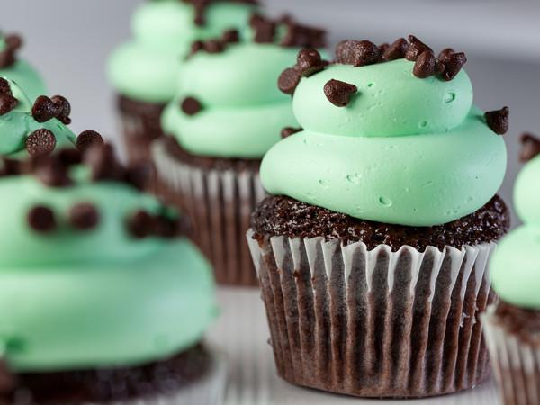 Mint Chocolate Chip Cupcake | Freed's Bakery