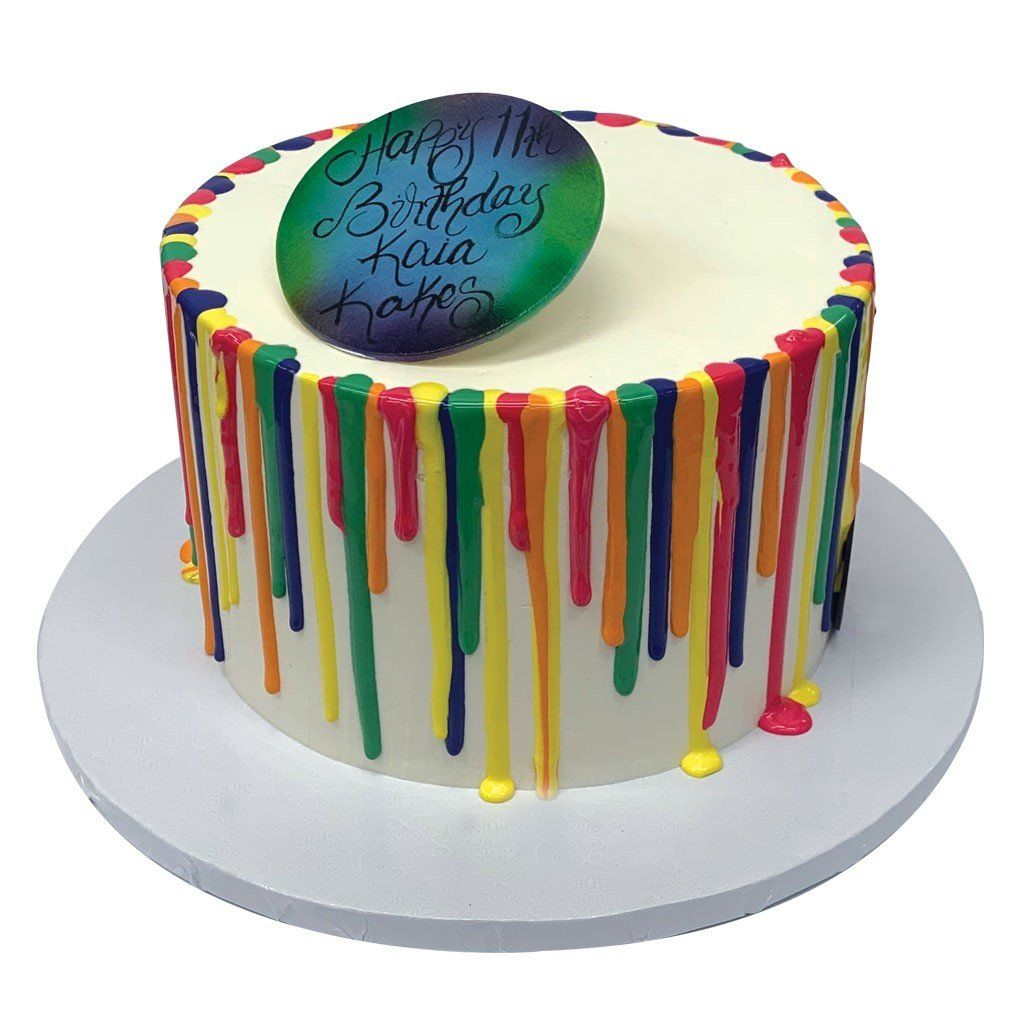 Neon Drip Theme Cake Freed's Bakery