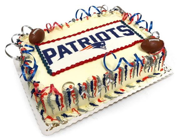Big Game Patriots Cake Freed's Bakery