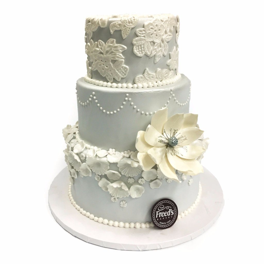 Petals and Paisley Wedding Cake Freed's Bakery