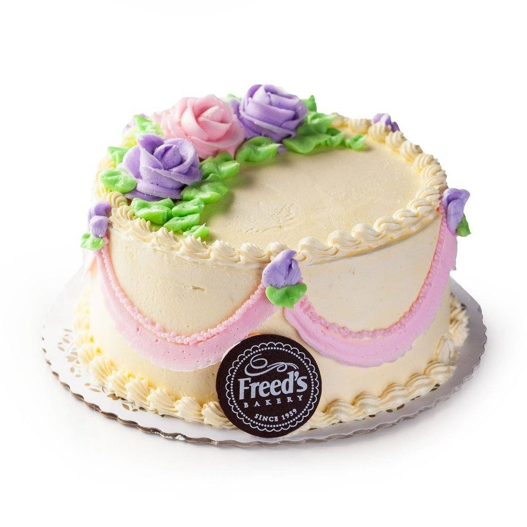 Pink & Lavender Flowers Cake Freed's Bakery
