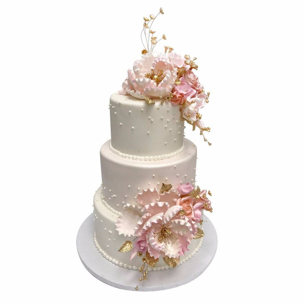 Princess Peony Wedding Cake Freed's Bakery