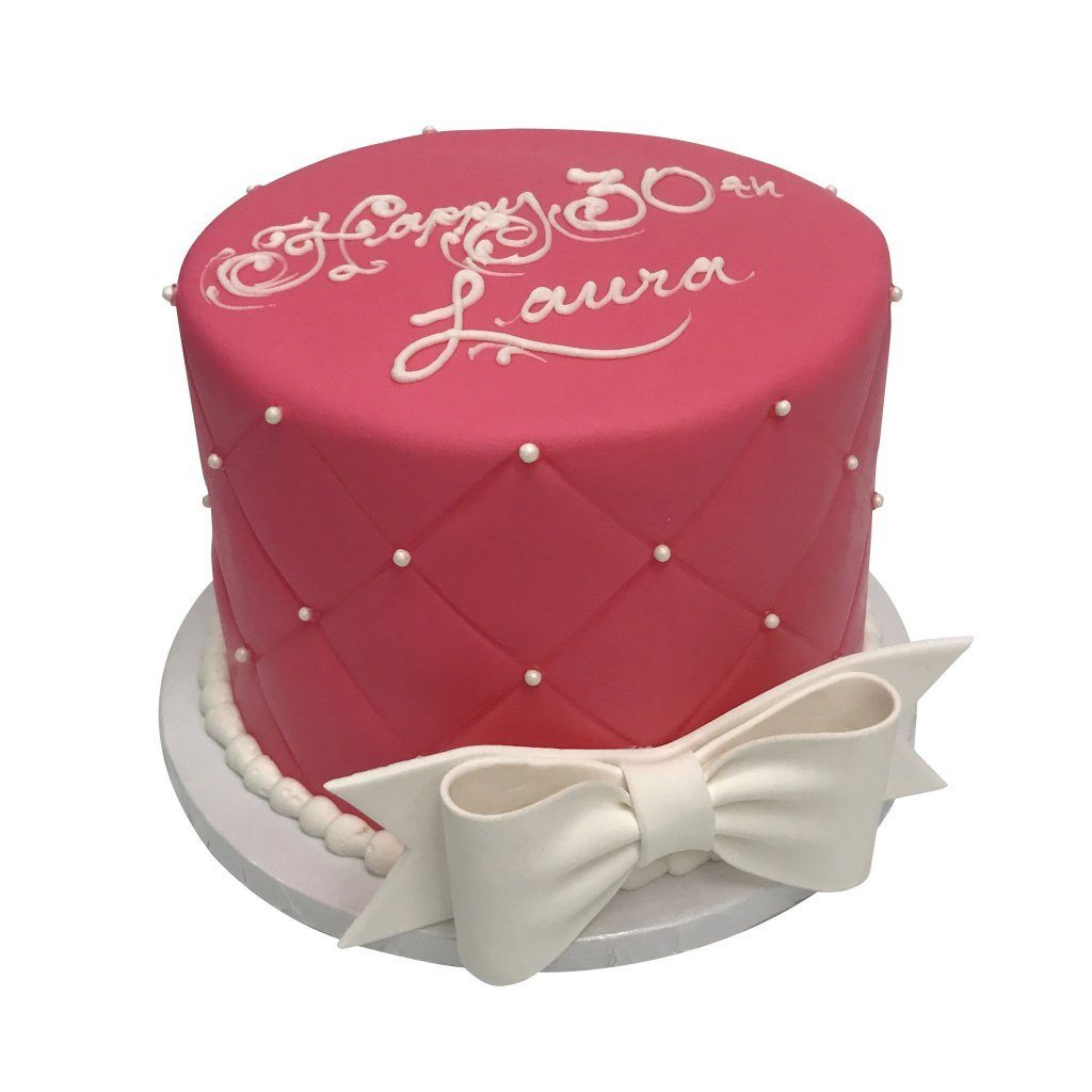 Quilted Bow Theme Cake Freed's Bakery