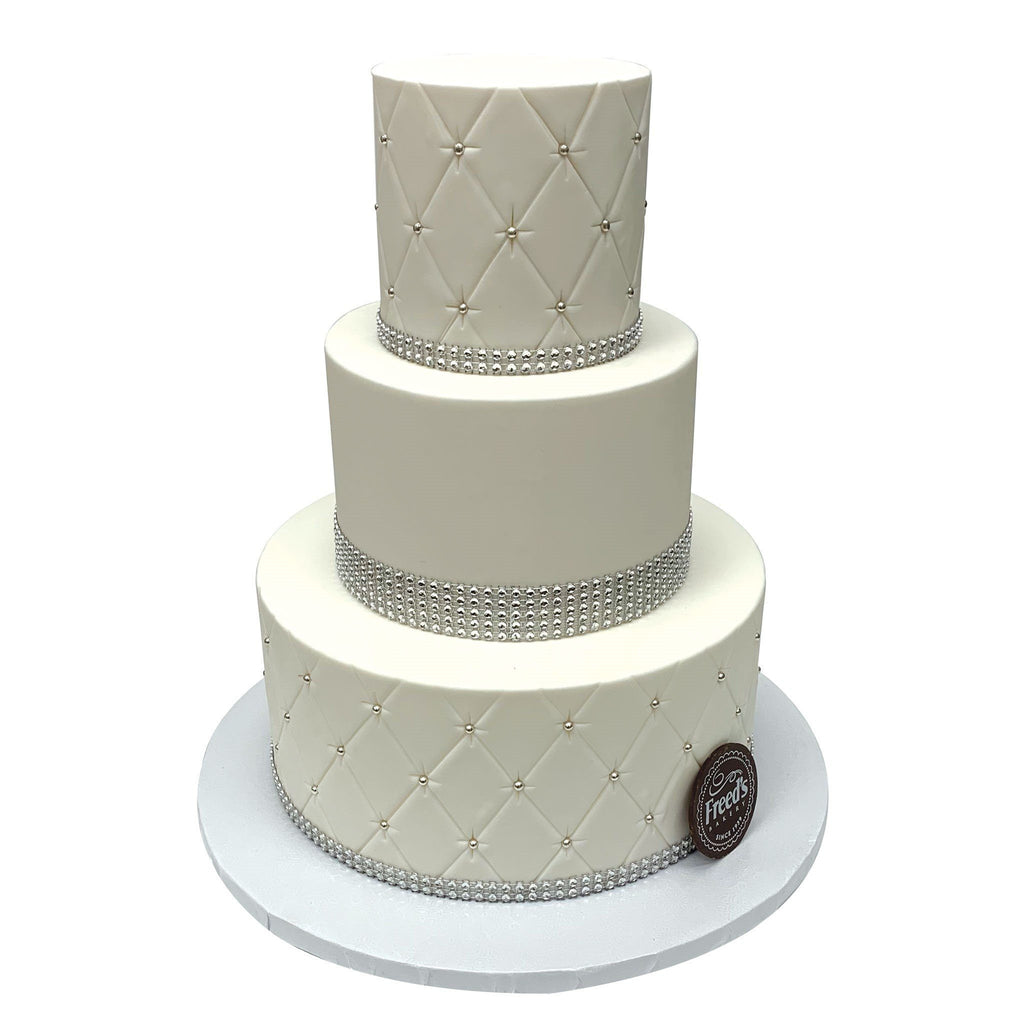 Quilted Elegance Wedding Cake Freed's Bakery