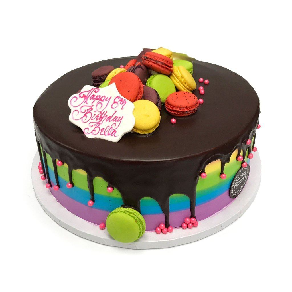 Rainbow Ganache Theme Cake Freed's Bakery