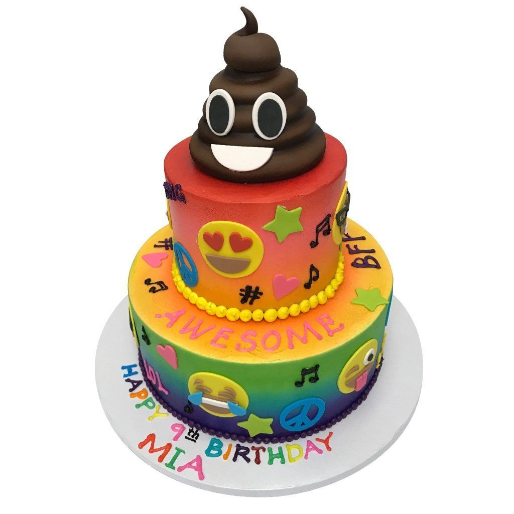 Rainbow Emoji's Theme Cake Freed's Bakery