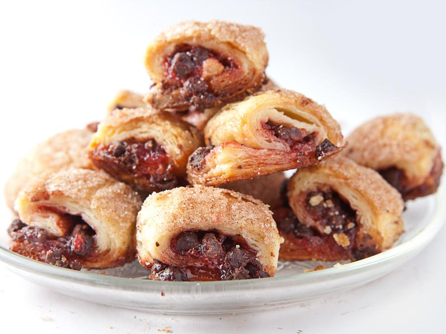 Raspberry Chocolate Rugelach (Nationwide Shipping) Rugelach Freed's Bakery