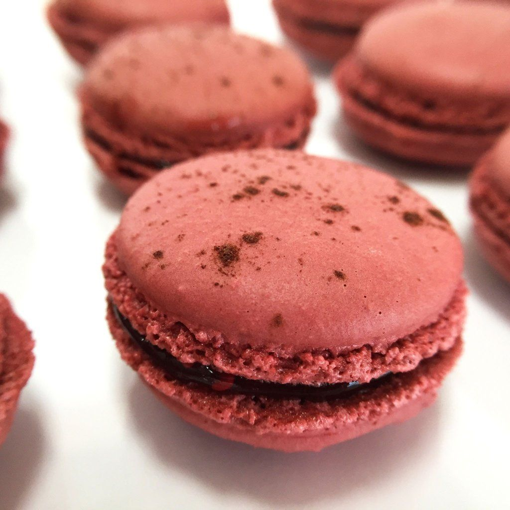 Raspberry French Macaron French Macaron Freed's Bakery