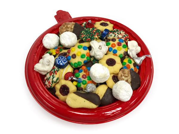 Red Ornament Cookie Tray