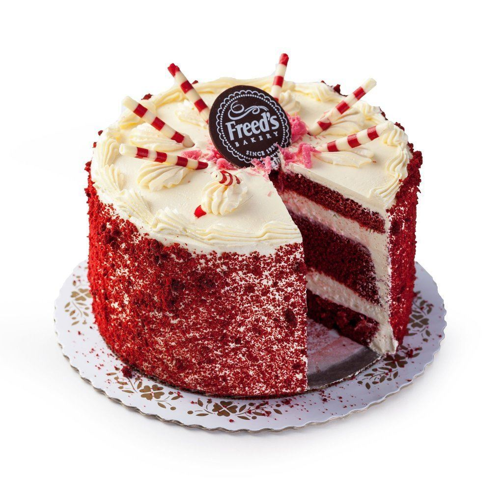 "Cozy-Sized Red Velvet Vegas Dessert Cake Dessert Cake Freed's Bakery 7"" Round (Serves 8-10)"