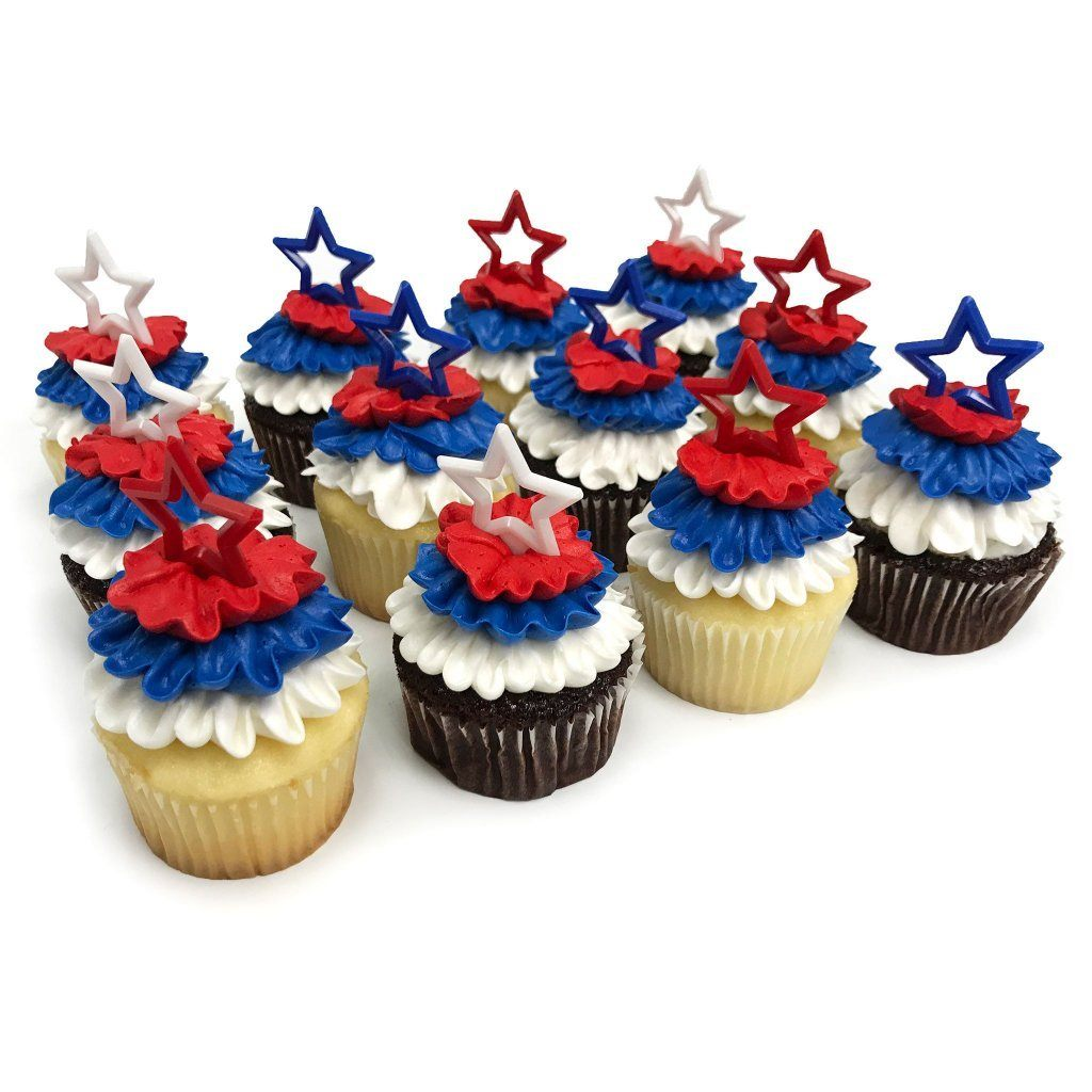 Red White and Blue Cupcakes Cupcake Freed's Bakery