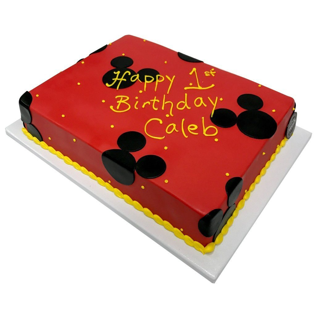 Red Mickey Birthday Theme Cake Freed's Bakery