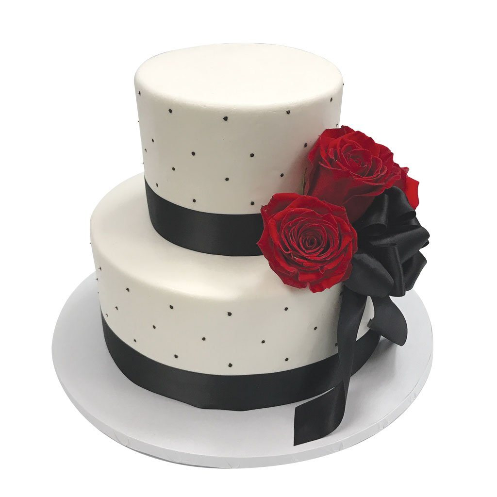 Red Rose Affair Wedding Cake Wedding Cake Freed's Bakery