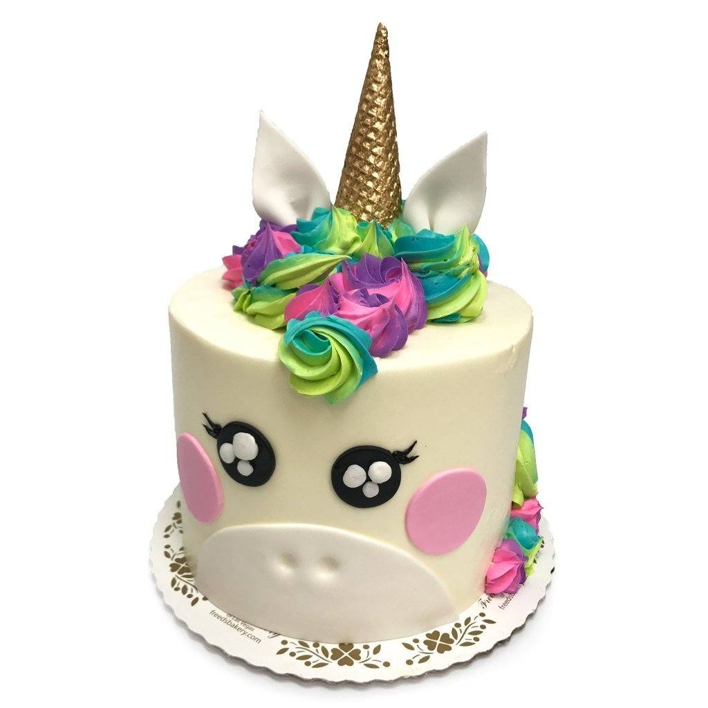 Rosy Unicorn Theme Cake Freed's Bakery