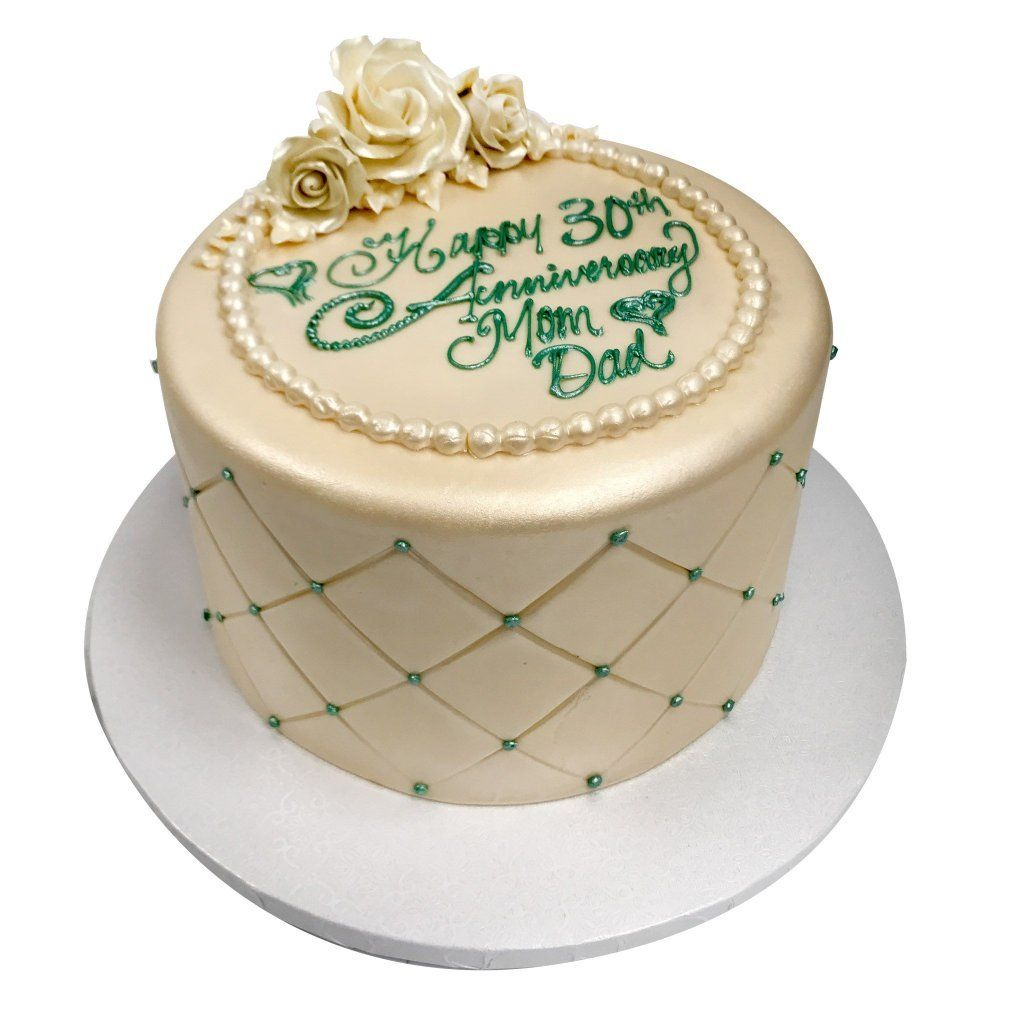 Royal Pearl Anniversary Theme Cake Freed's Bakery