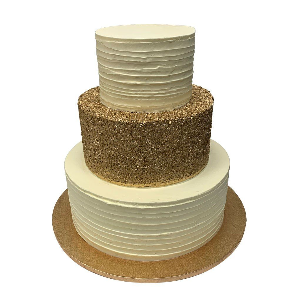 Rustic Gold Wedding Cake Freed's Bakery