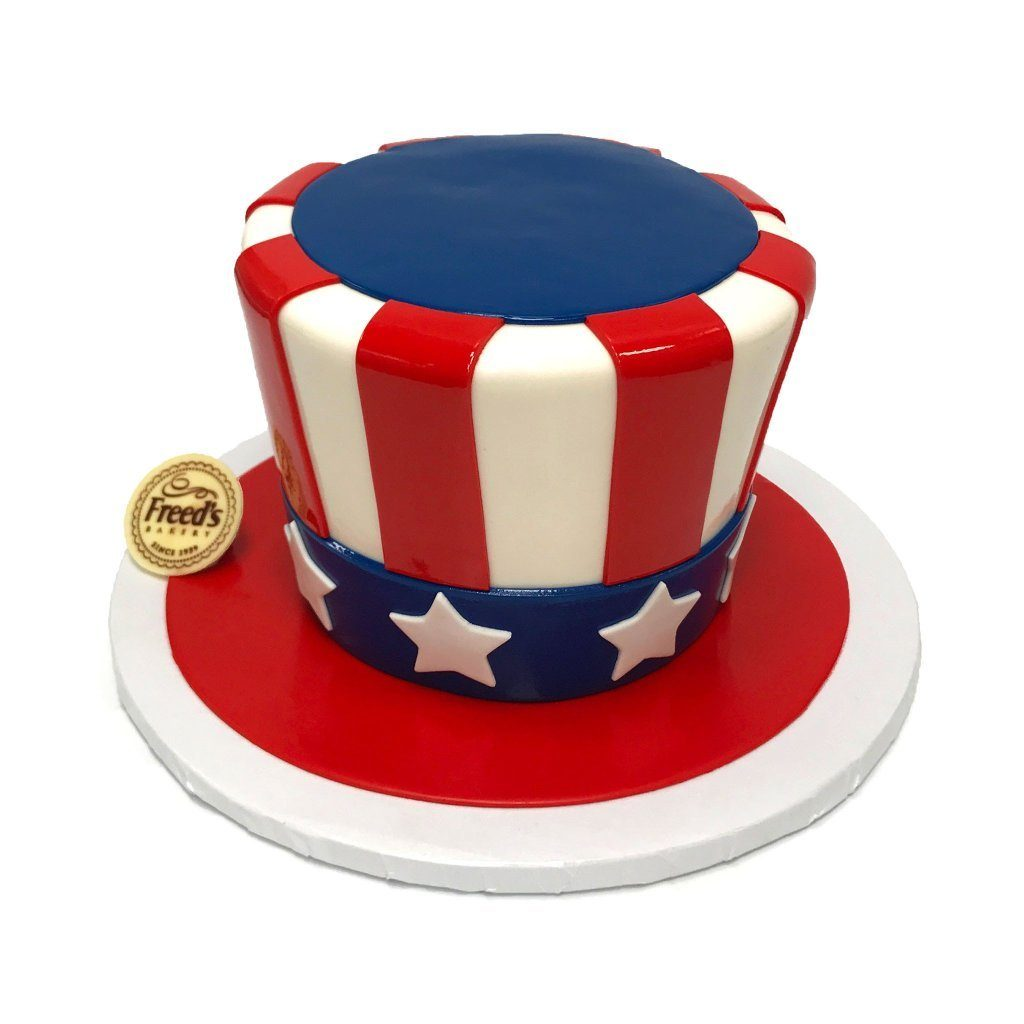 Uncle Sam's Hat Theme Cake Freed's Bakery