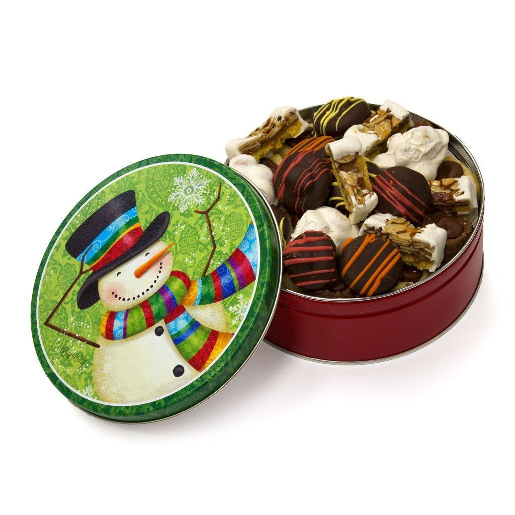 Snowman Scarf Cookie Tin Cookie Tin Freed's Bakery