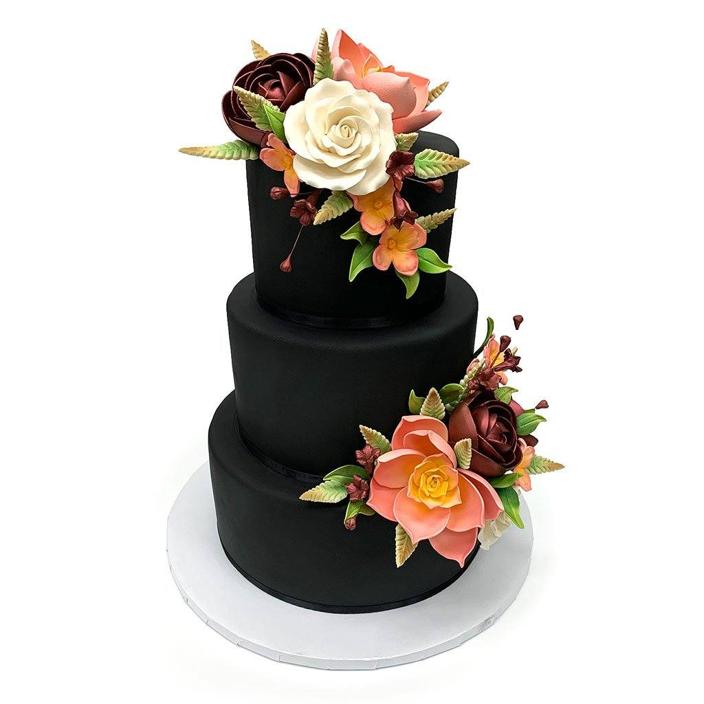 Shadow Floral Wedding Cake Freed's Bakery
