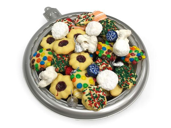 Silver Ornament Cookie Tray