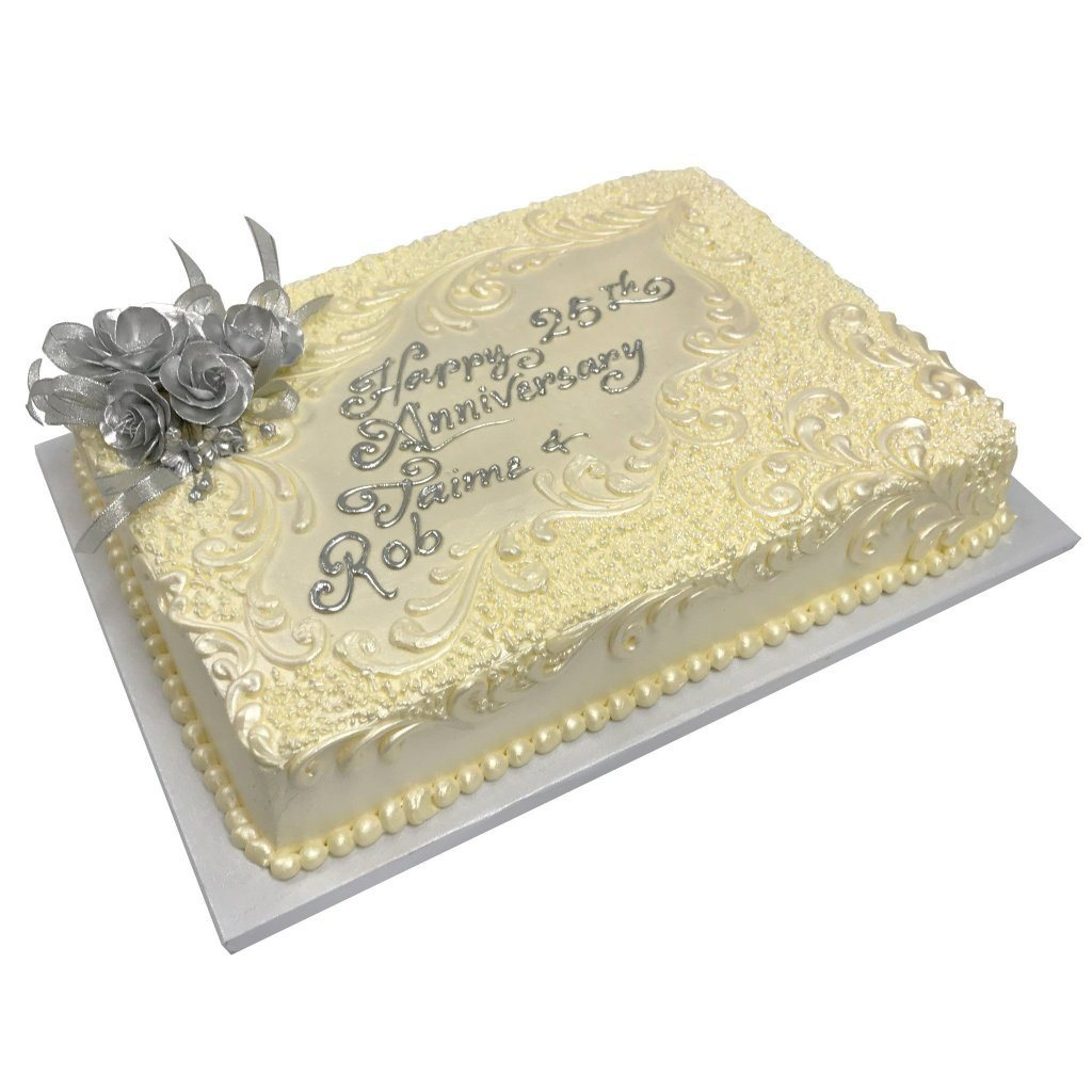 Silver Anniversary Theme Cake Freed's Bakery