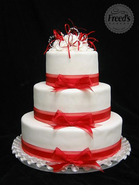 Simply Red Wedding Cake Freed's Bakery