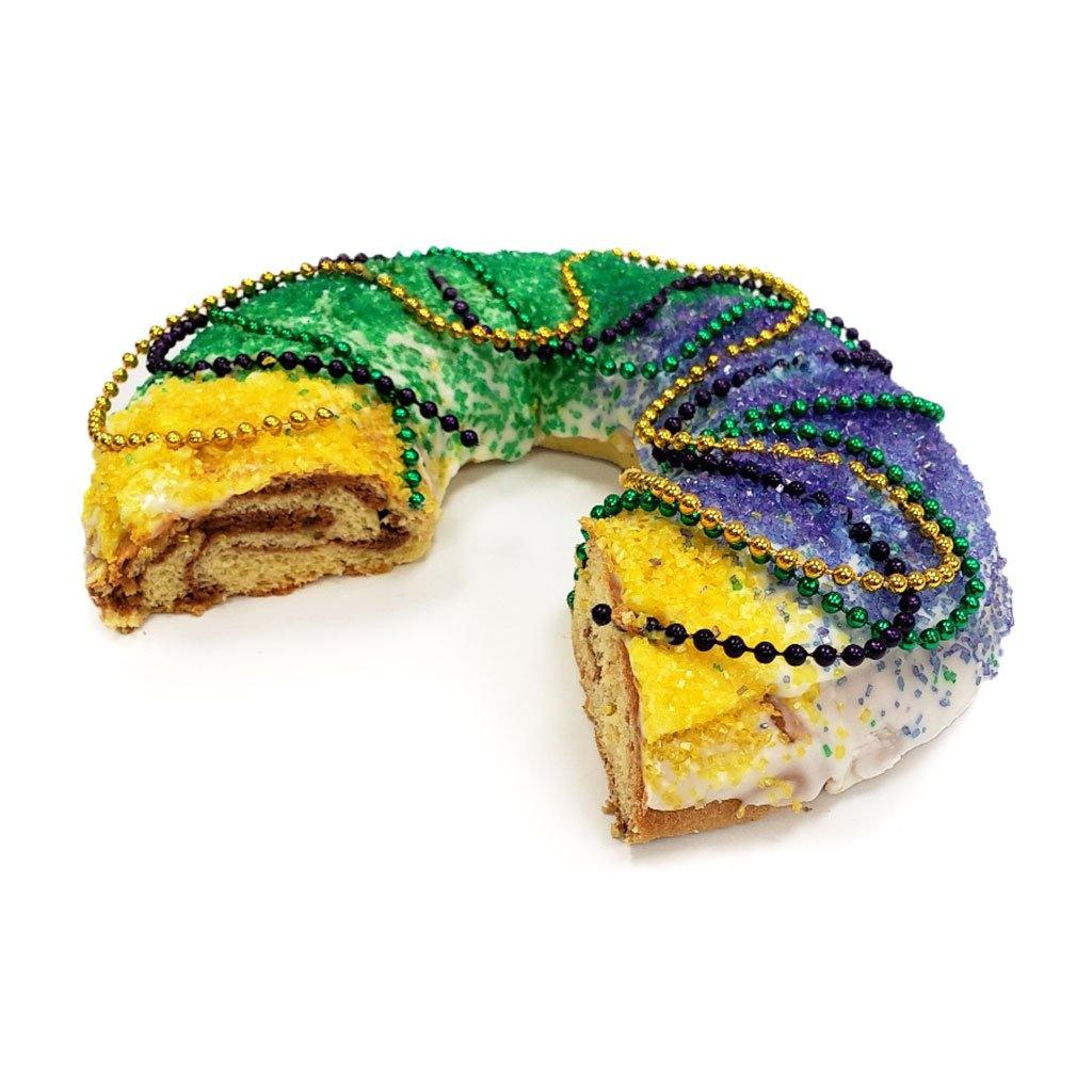 King Cake Holiday Item Freed's Bakery Small Round (Serves 4-8) Cinnamon Sugar No Baby