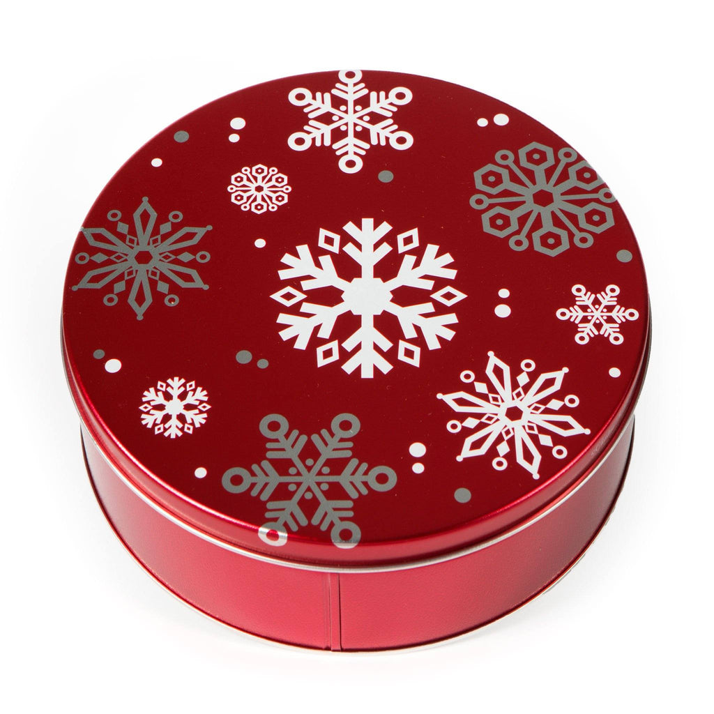 Snowflake in Red Cookie Tin Cookie Tin Freed's Bakery