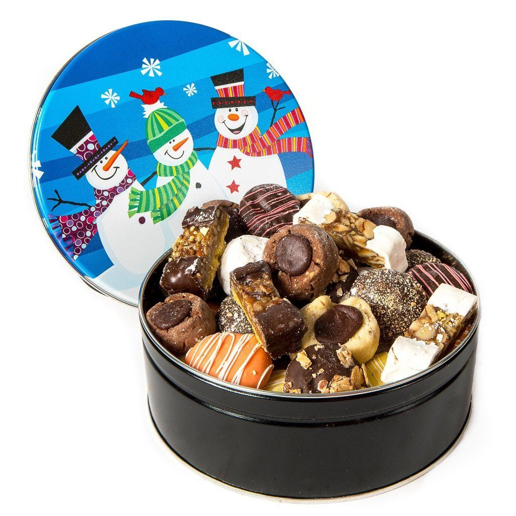 Snowmen Cookie Tin