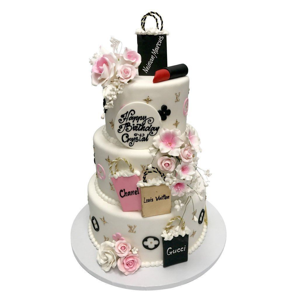 Sophisticated Shopping Theme Cake Freed's Bakery