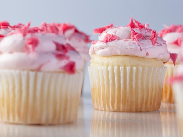 Strawberries and Cream Cupcake