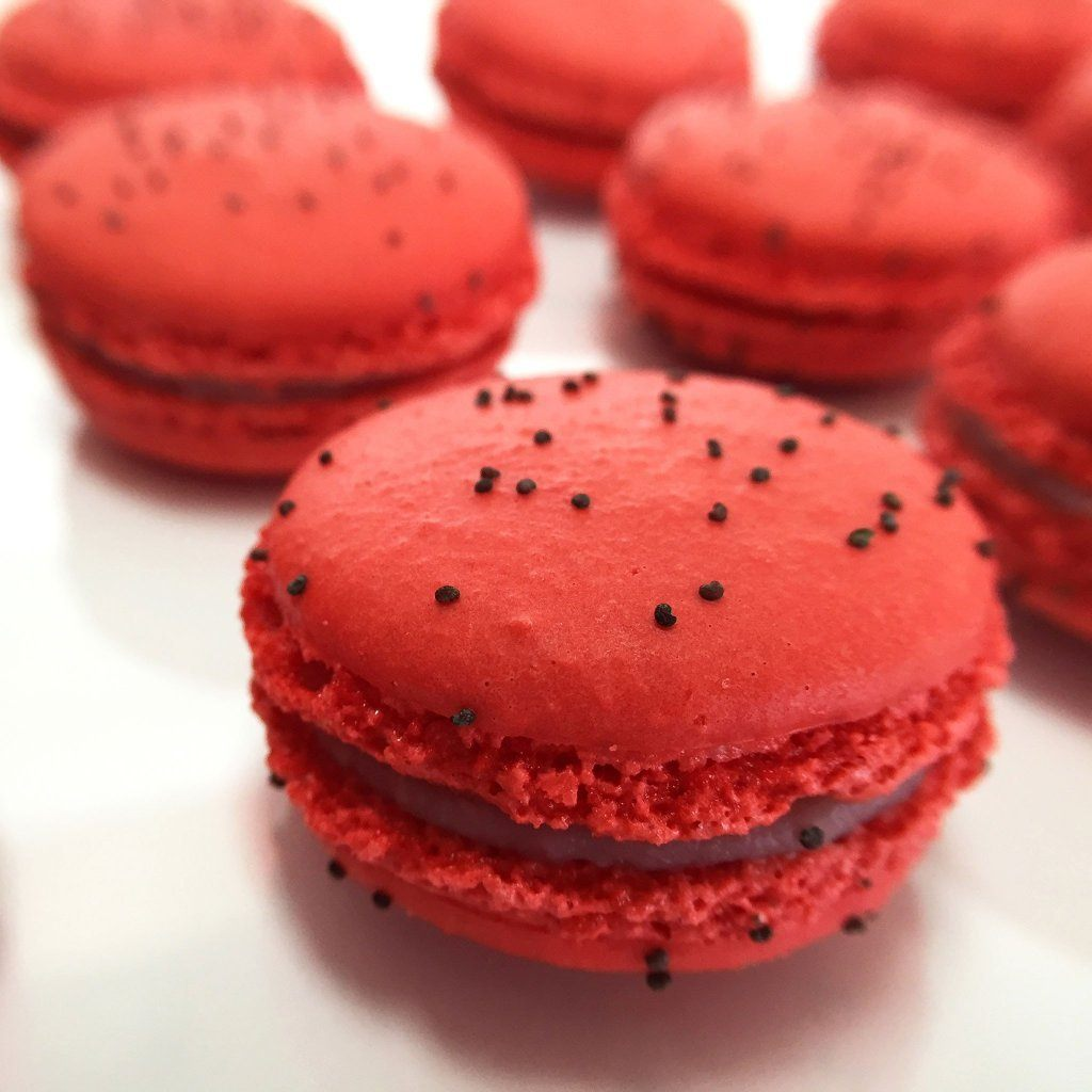 Strawberry French Macaron French Macaron Freed's Bakery