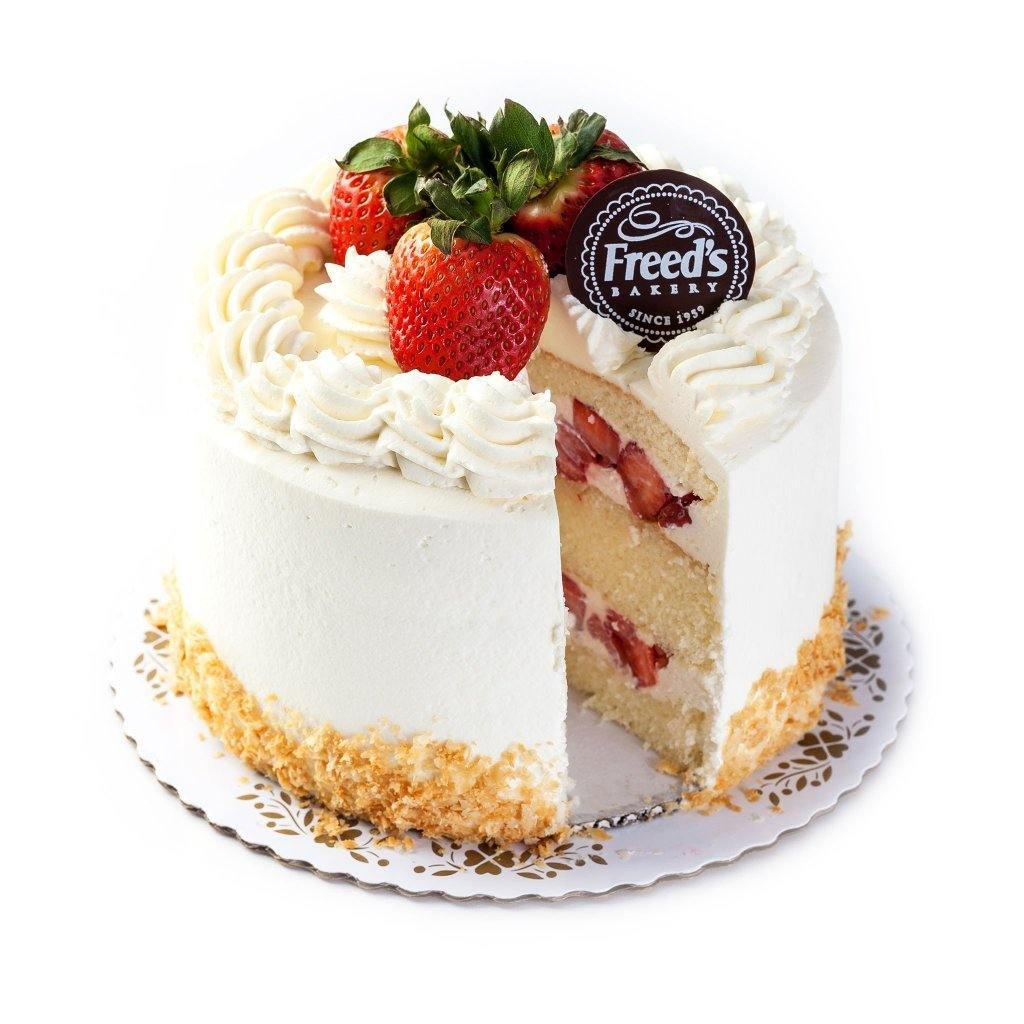 No Sugar Added Strawberry Shortcake Cake Freed's Bakery