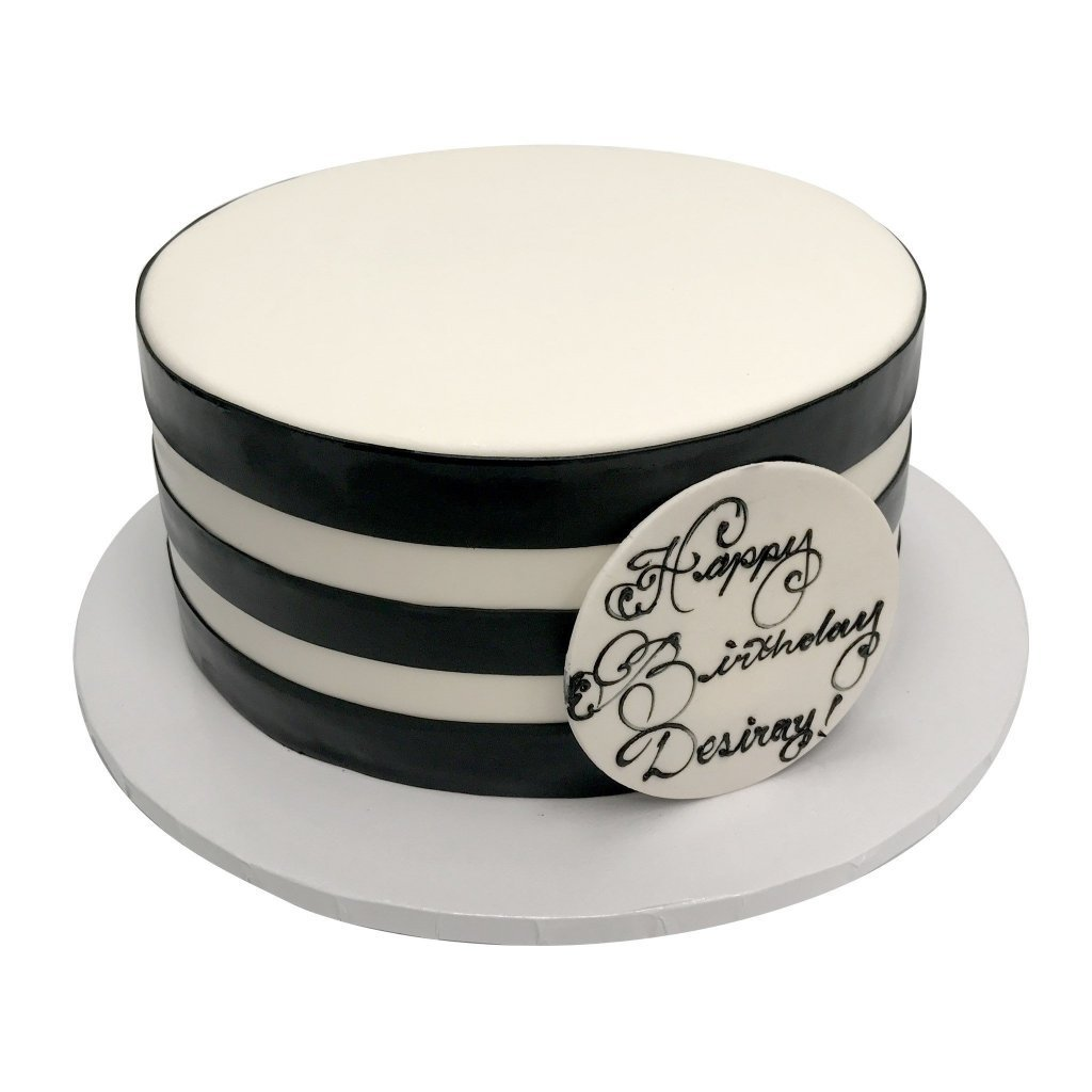 Striped Perfection Theme Cake Freed's Bakery