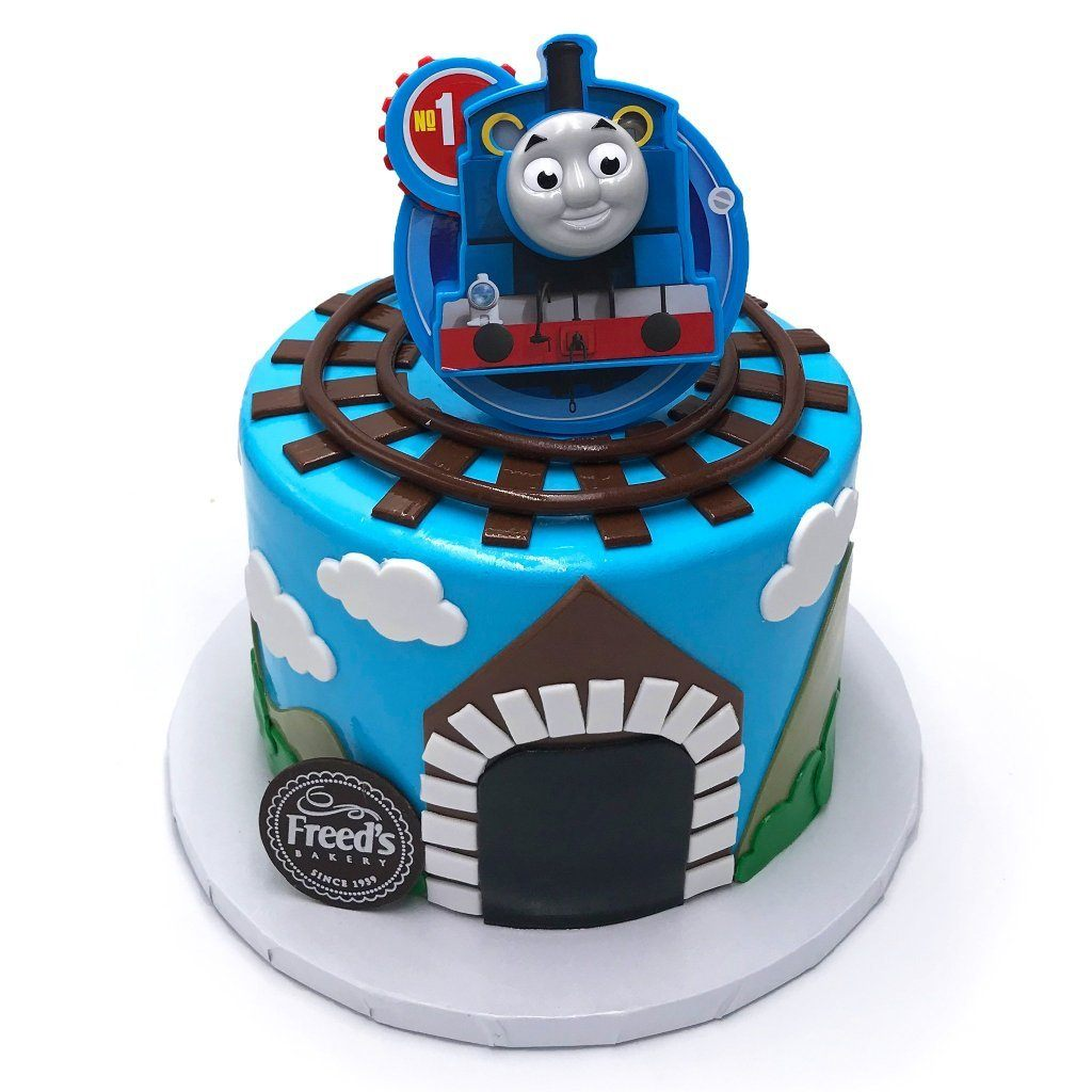 Little Conductor Theme Cake Freed's Bakery