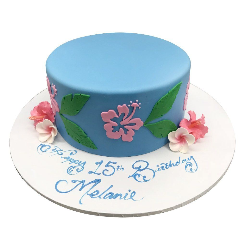 Tropical Flowers Theme Cake Freed's Bakery