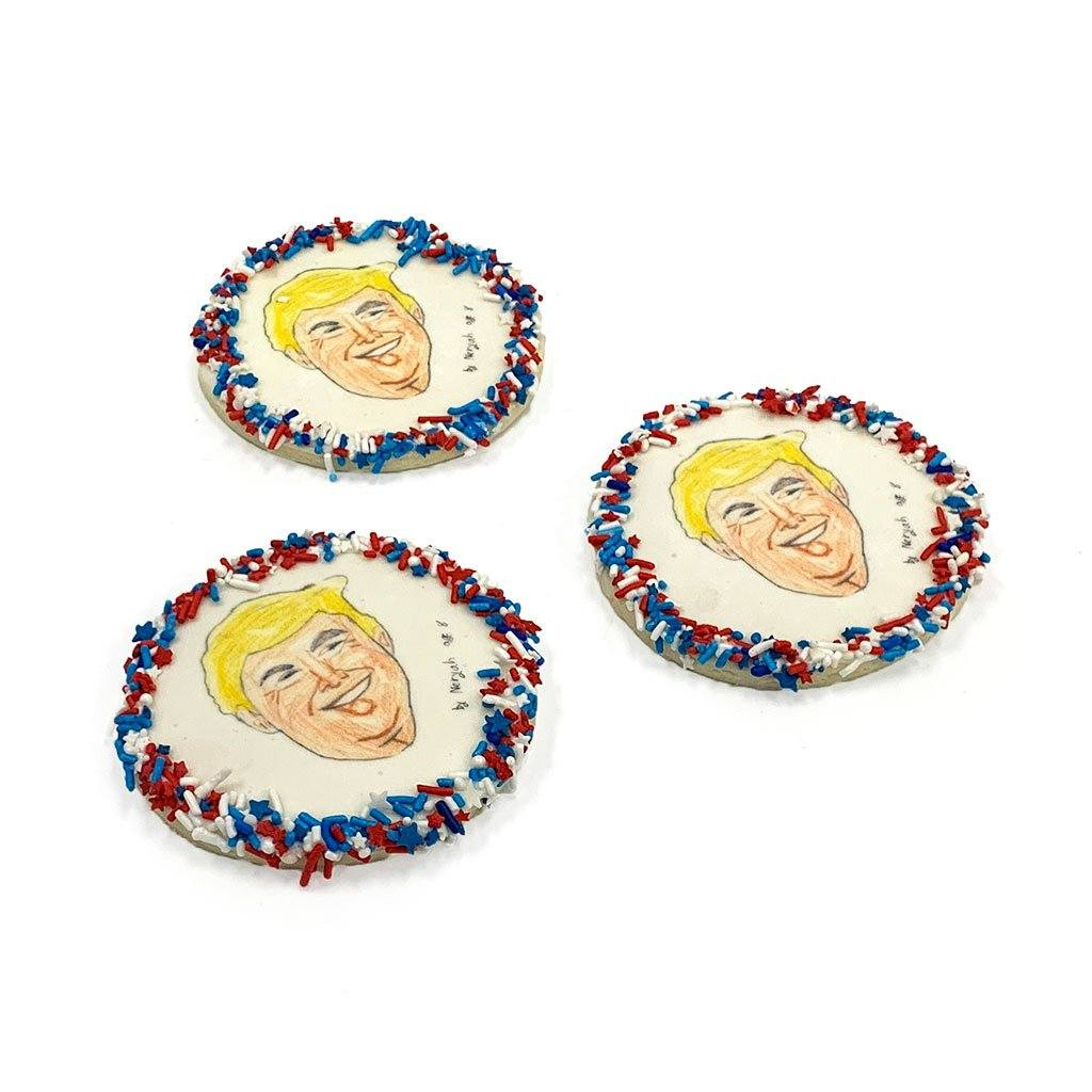 2020 Candidate Cookie - Donald Trump Cutout Cookie Freed's Bakery Dozen Cookies Donald Trump