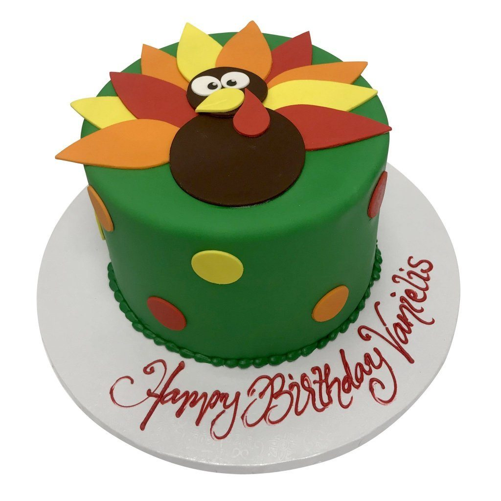 Turkey Time Theme Cake Freed's Bakery