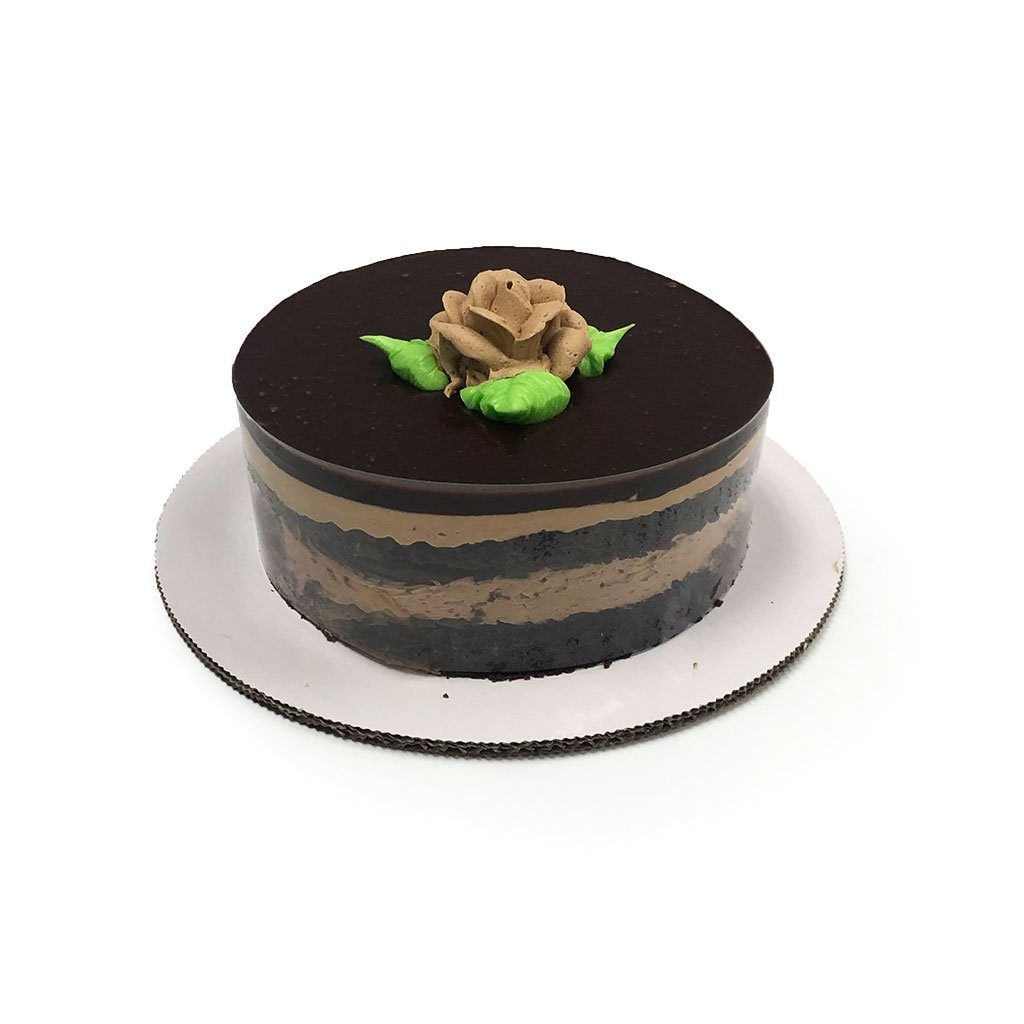 "Cozy-Sized Chocolate Fudge Blackout Cake Dessert Cake Freed's Bakery Two-Layer 7"" Round (Serves 4-8 Guests)"