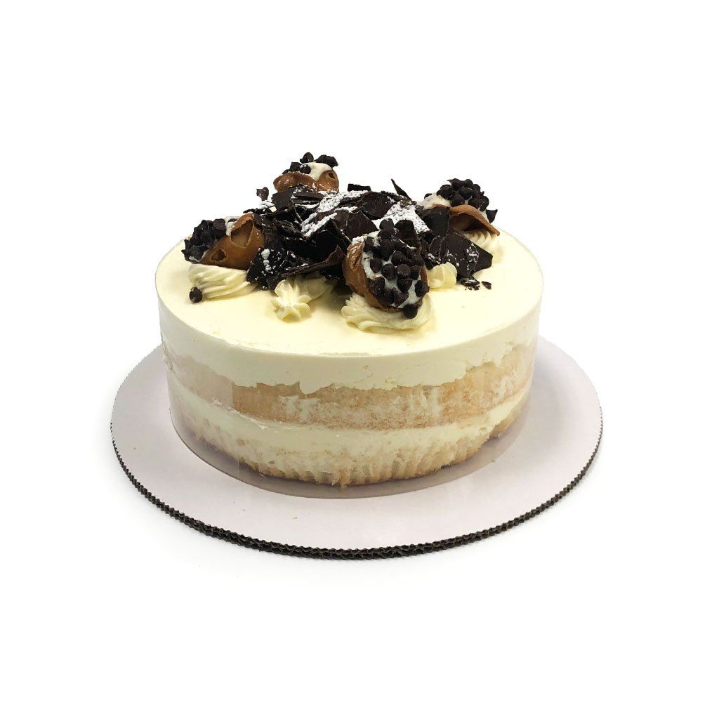 "Cozy-Sized Cannoli Cream Dessert Cake Dessert Cake Freed's Bakery Two-Layer 7"" Round (Serves 4-8 Guests)"