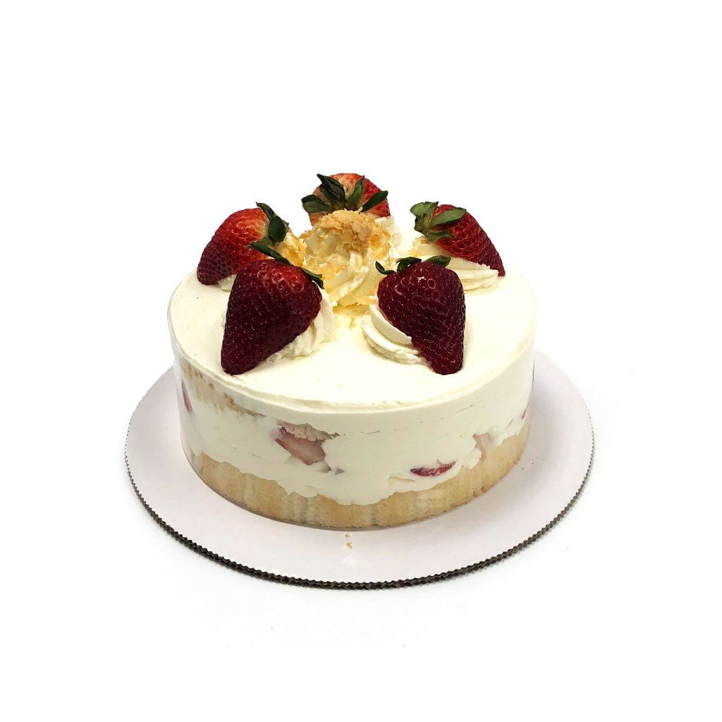 "Cozy-Sized World Famous Strawberry Shortcake Dessert Cake Freed's Bakery Two-Layer 7"" Round (Serves 4-8 Guests)"