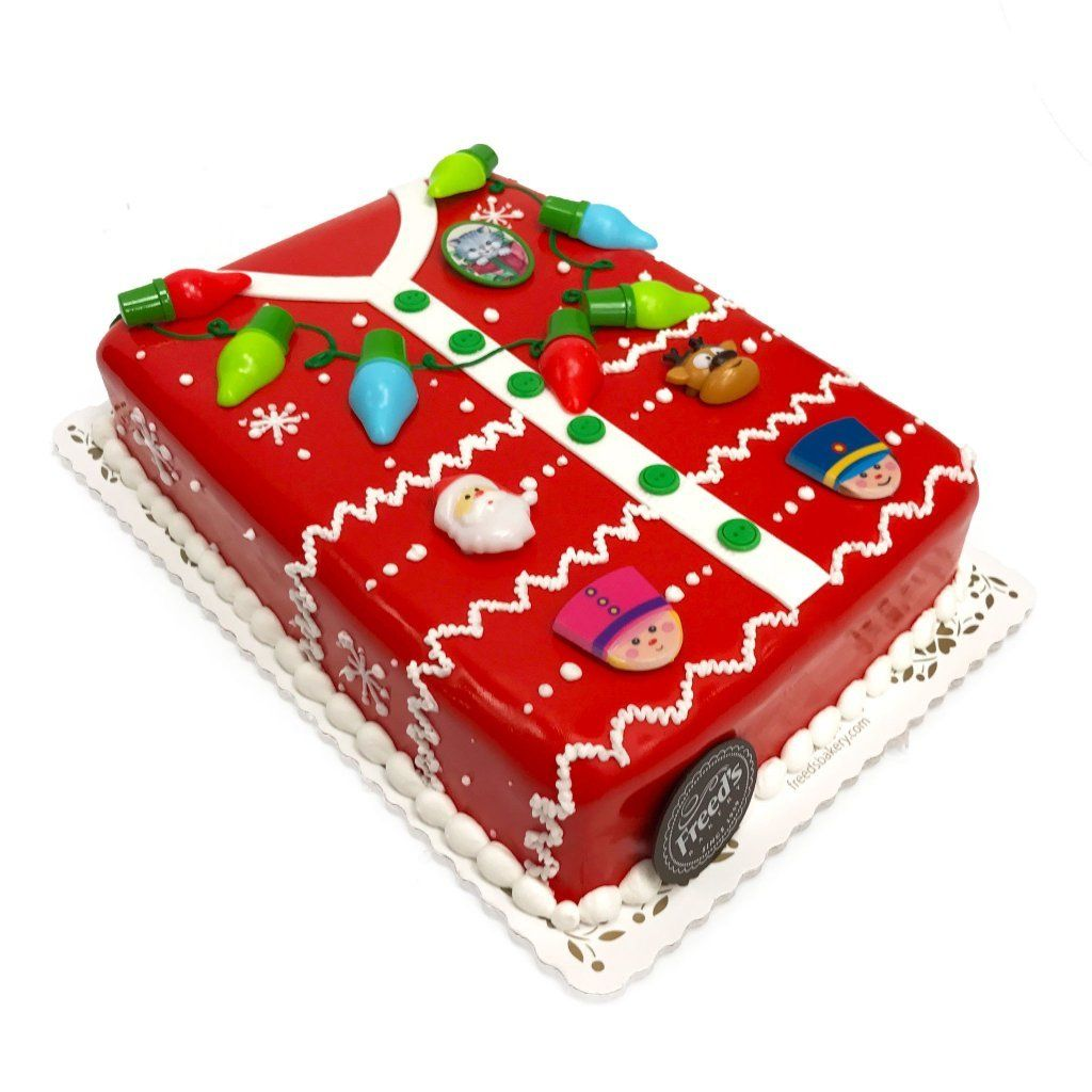 Ugly Sweater Theme Cake Freed's Bakery