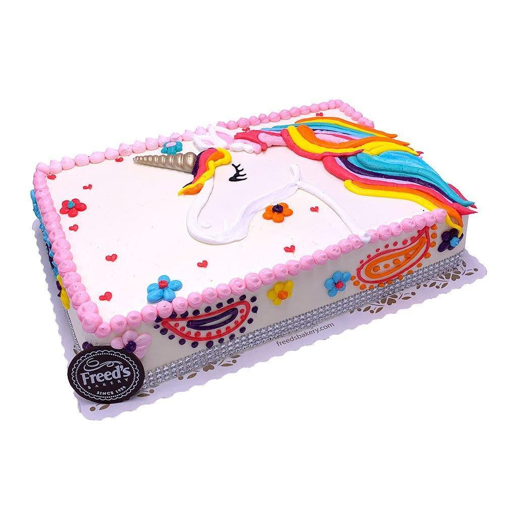 Unicorn Rainbow Theme Cake Freed's Bakery