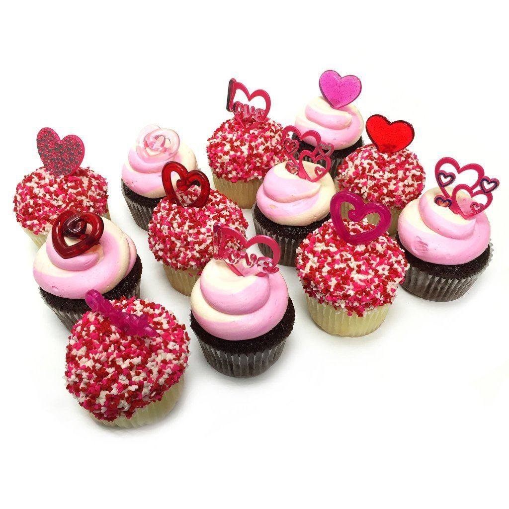 Valentine's Swirls and Sprinkles Cupcakes Valentine's Item Freed's Bakery