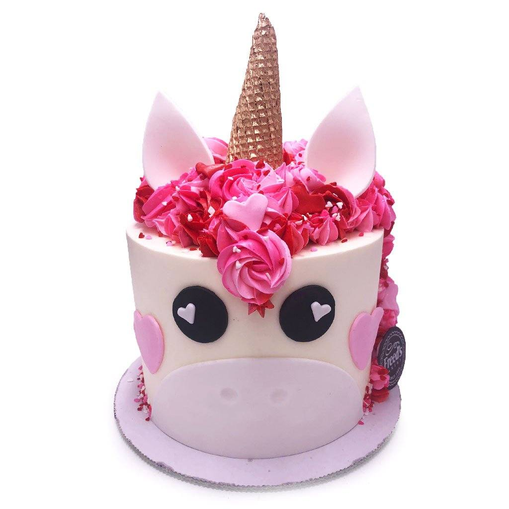 Magnificent Valentine Unicorn Birthday Cake Freeds Bakery Funny Birthday Cards Online Elaedamsfinfo