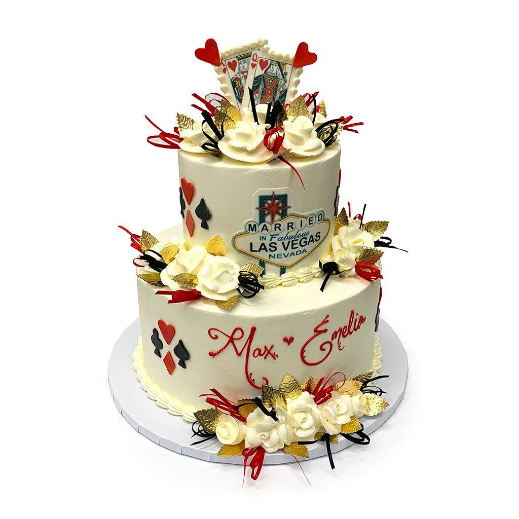 Vegas In Style Wedding Cake Wedding Cake Freed's Bakery