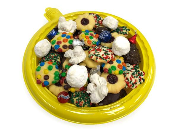 "Yellow ""Gold"" Ornament Cookie Tray"